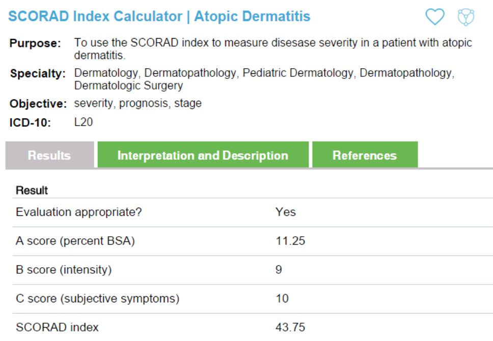 scorad-index-calculator-atopic-dermatitis